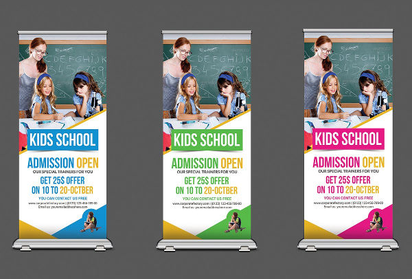 school roll up banner