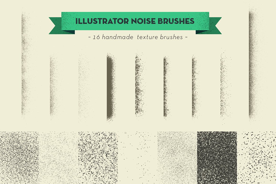 set of handmade brushes textures