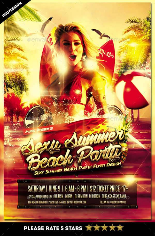 Sexy Beach Summer Flyer