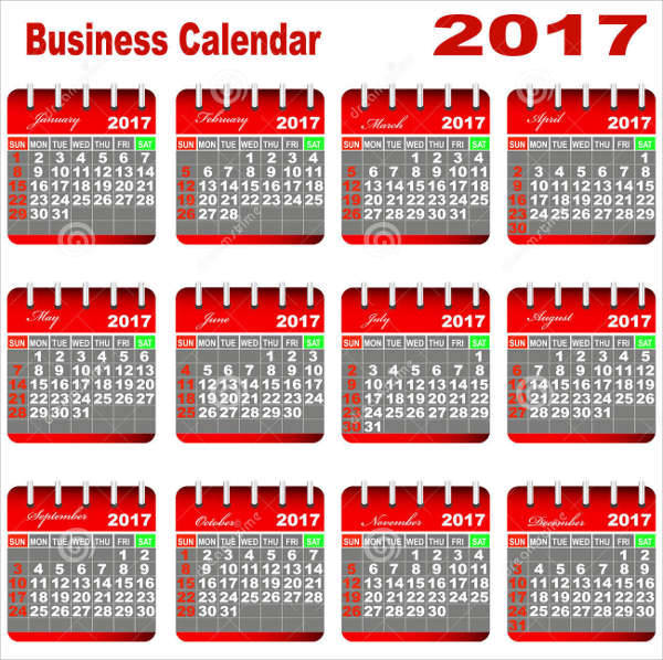 simple business calendar