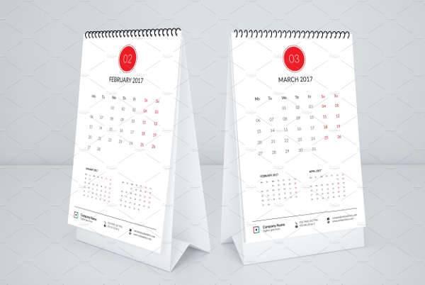 Simple Desk Calendar