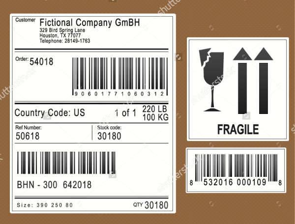 Simple Packaging Label