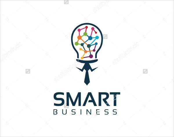 smart flat business logo