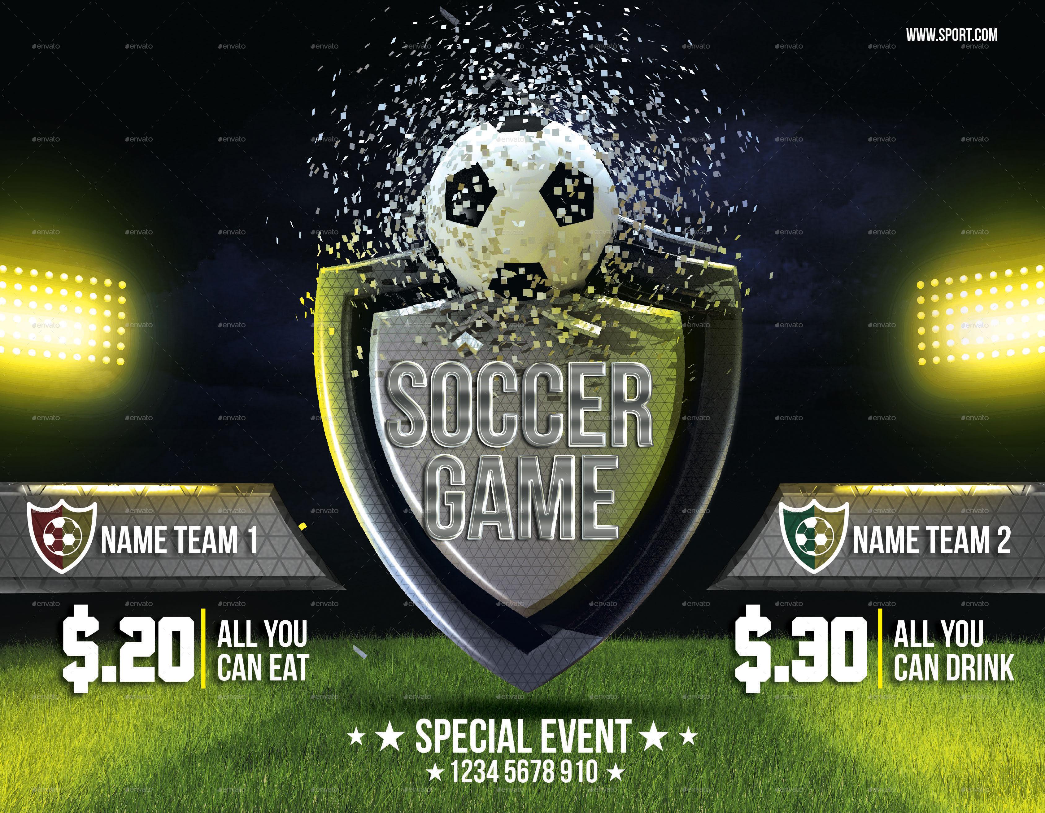 soccer 3d flyer