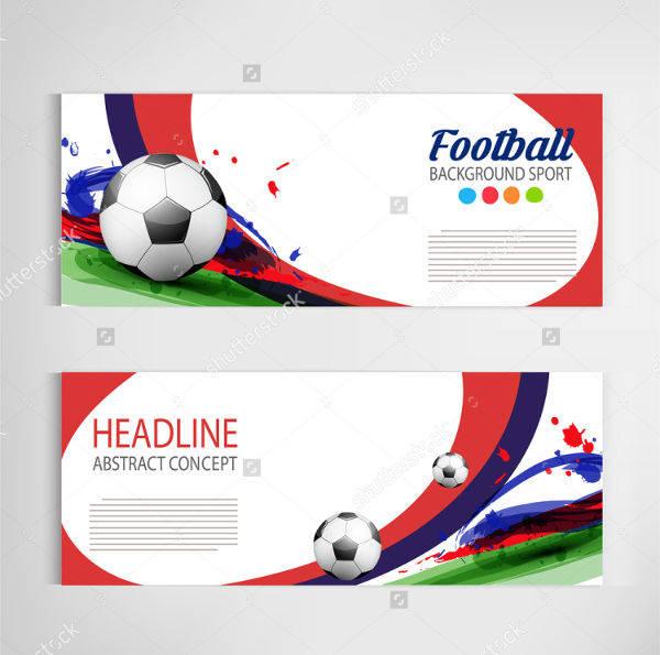 soccer sports banner