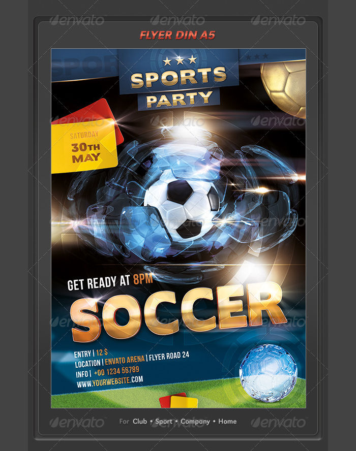 Soccer Sports Event Party Flyer