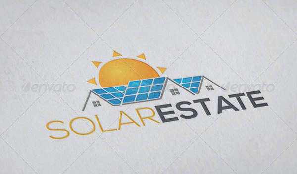 solar estate construction company logo