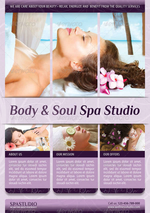 Spa Double Sided Flyer
