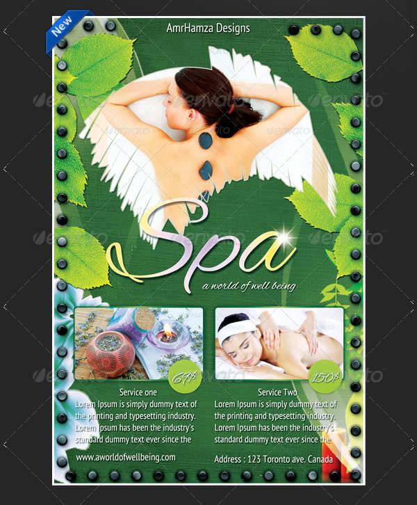 Spa Health Club Flyer