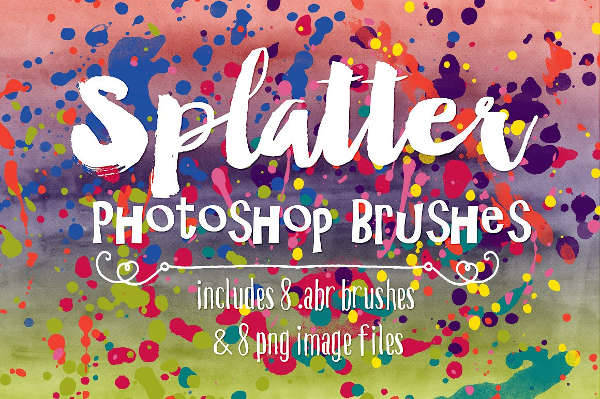 splatter watercolor brushes