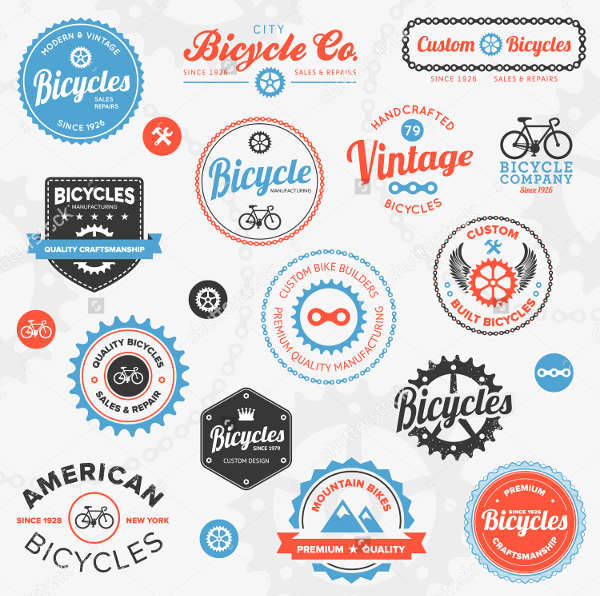 sports bicycle badges logo