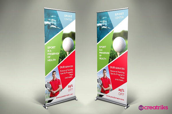 sports center roll up banner