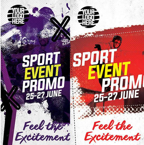 Sports Event Promo Roll up Banner