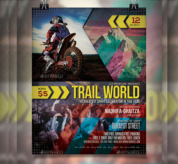 Sports Trail Event Flyer
