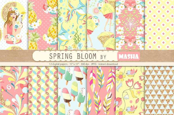 spring blossoming pattern