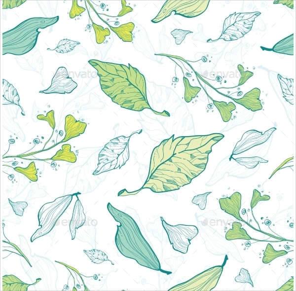 spring leaves patterns