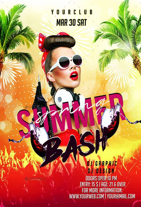 Spring Summer Bash Flyer