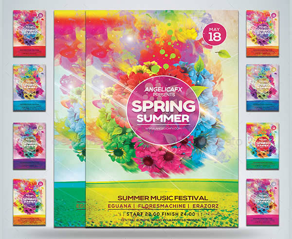 Spring Summer Festival Flyer