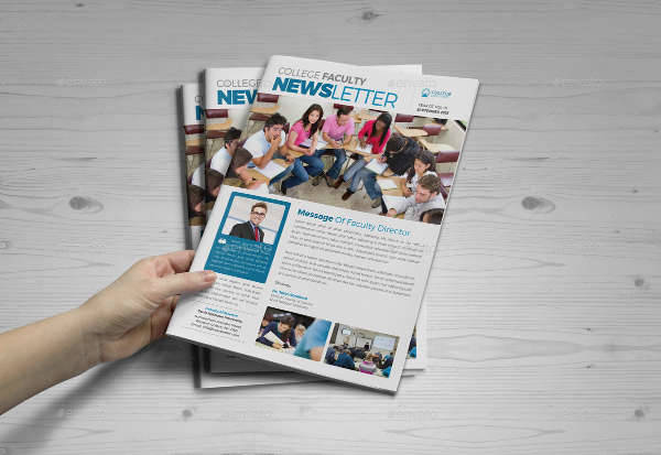 student college newsletter indesign template