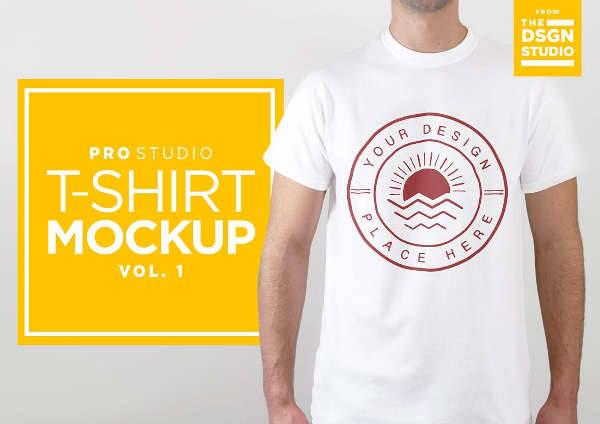 studio t shirt mockup