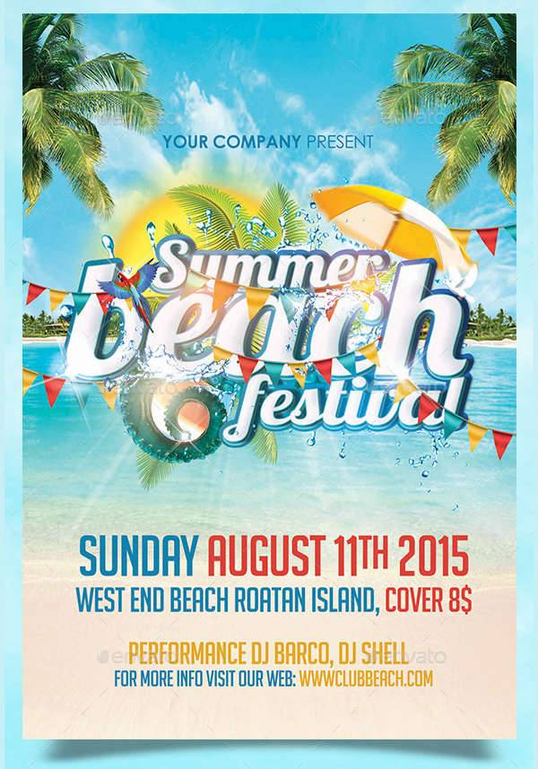 Summer Beach Festival Flyer
