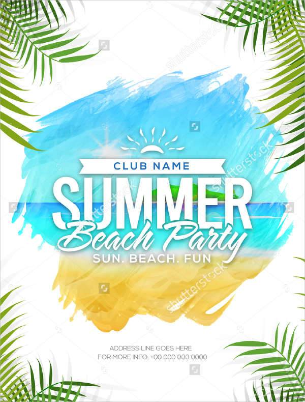 Summer Beach Vacation Flyer