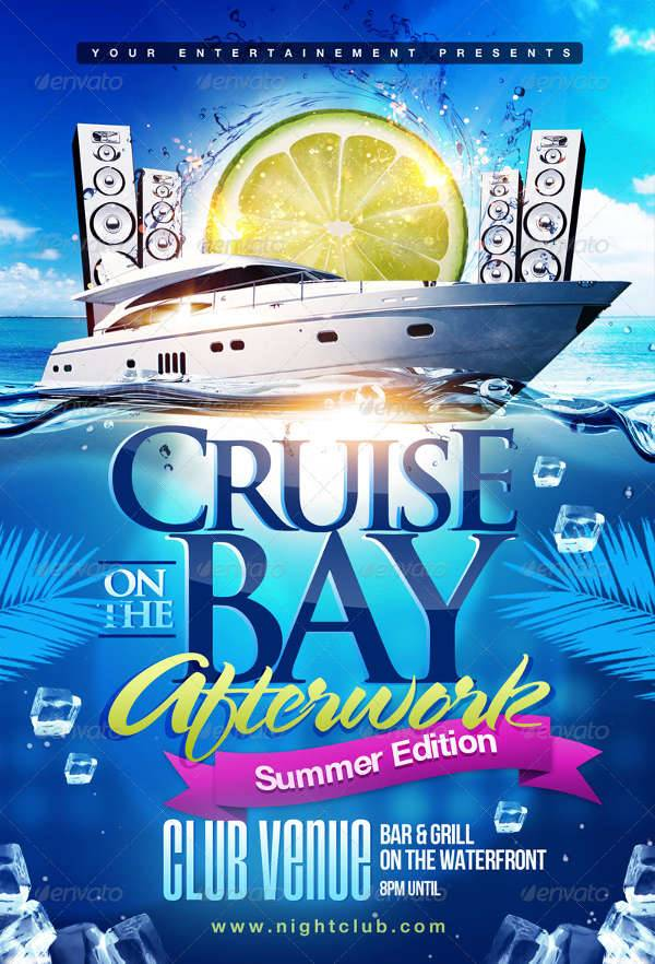 Summer Boat Cruise Party Flyer