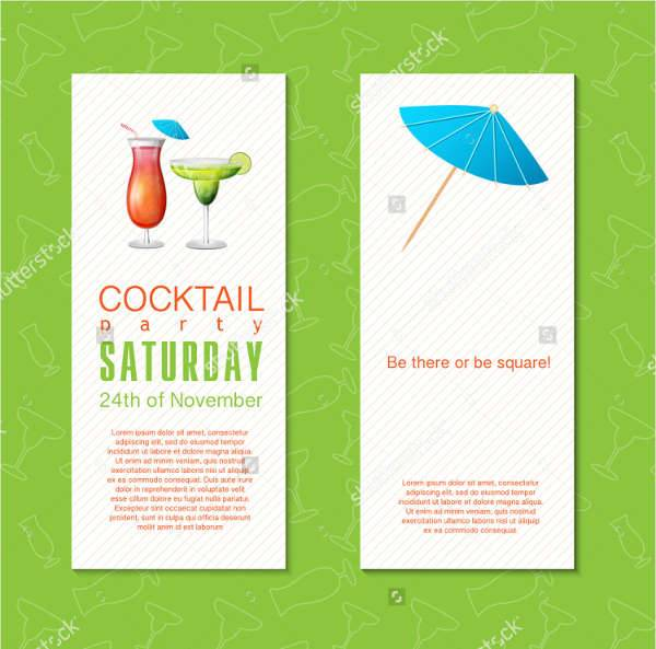 Summer Cocktail And Drinks Party Flyer