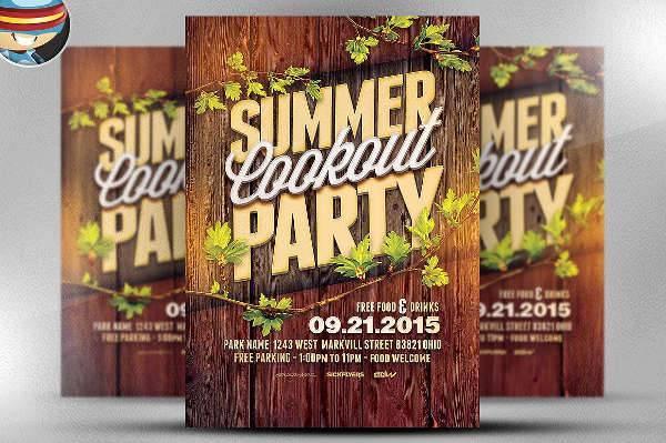 Summer Cookout Flyer