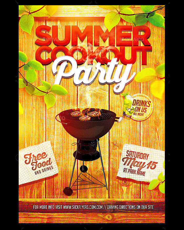 Summer Cookout Flyer