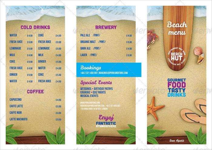 summer food menu package