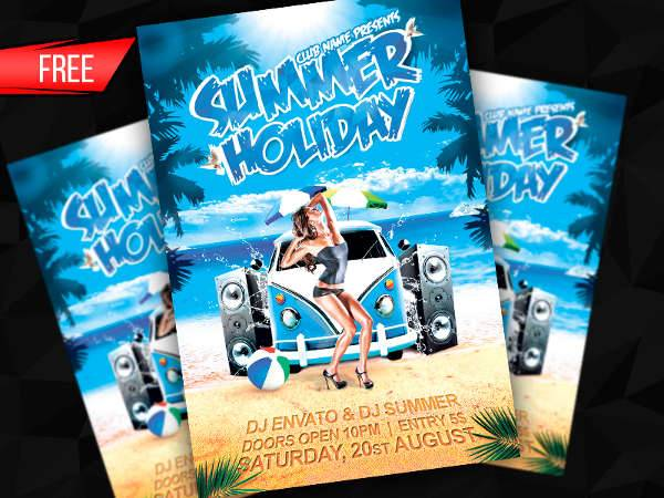Summer Holiday Flyer Template