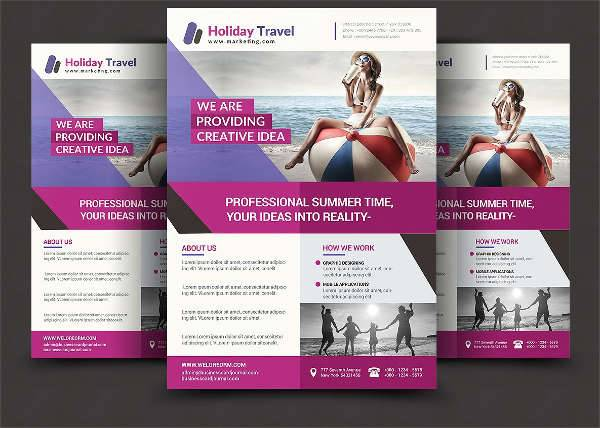 Summer Holiday Travel Flyer