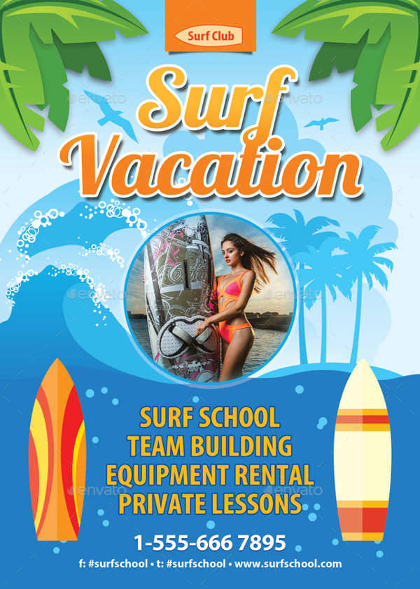 Summer Holiday Vacation Flyer