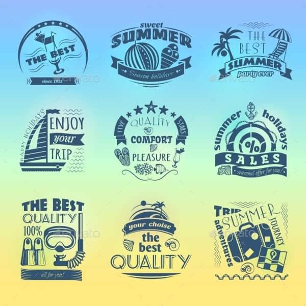 Summer Holiday Vacation Labels