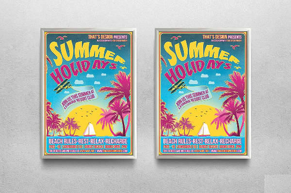 Summer Holidays Flyer Template