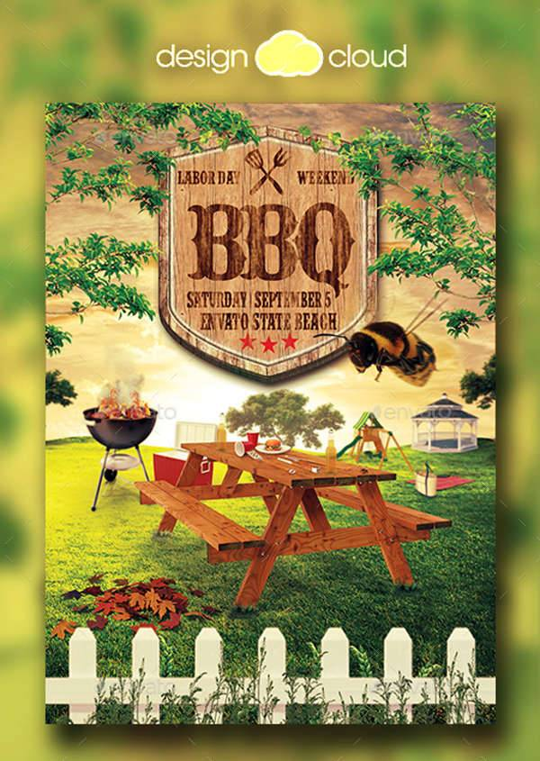 Summer Picnic BBQ Flyer