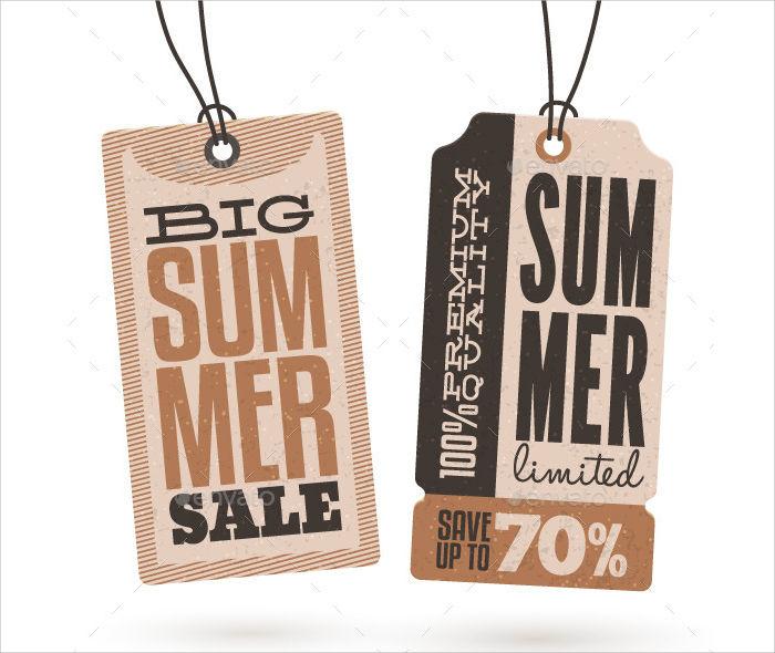 summer sale hang tag