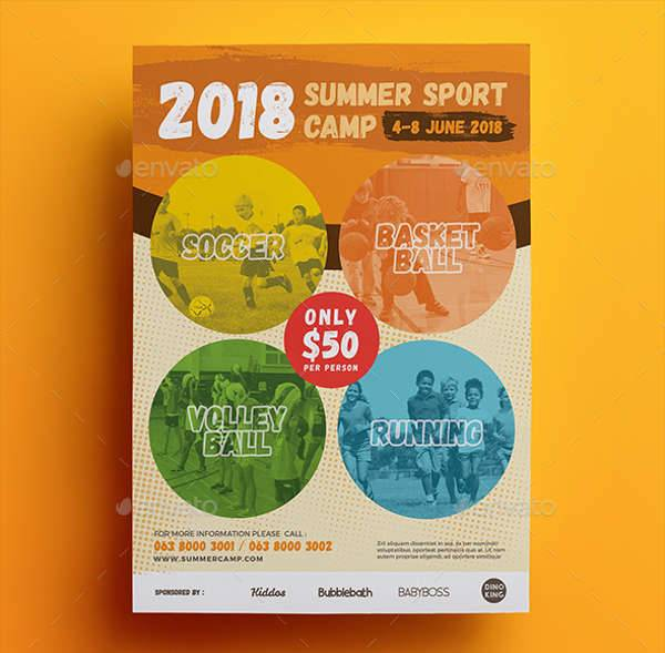 Summer Sports Camp Flyer