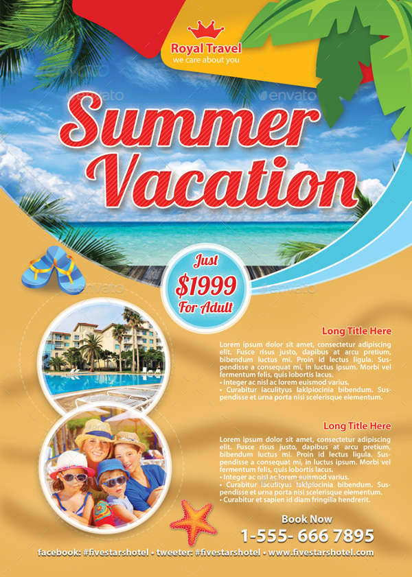 Summer Travel Vacation Flyer