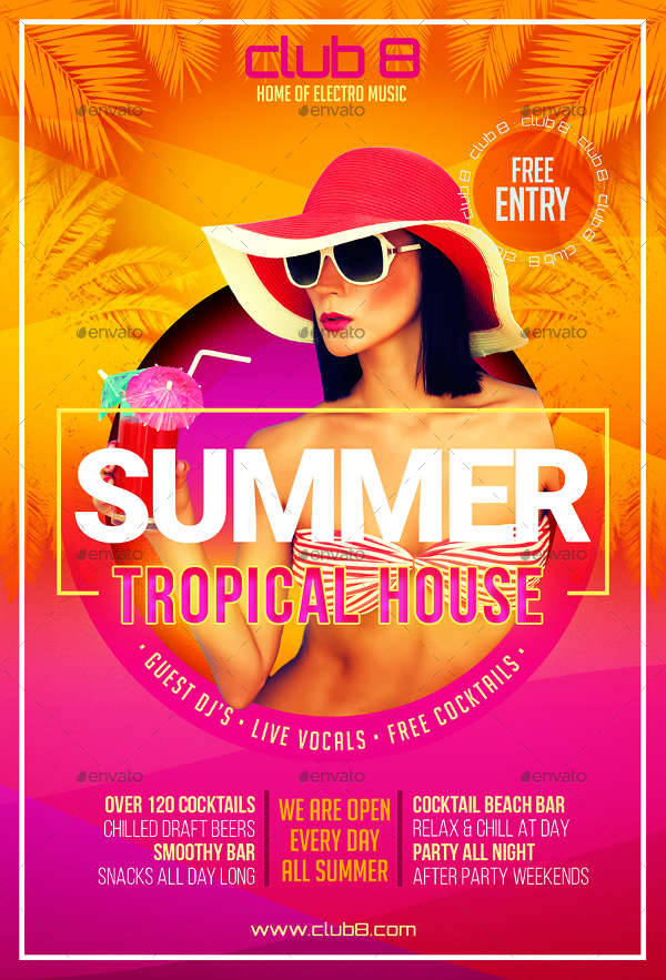 Summer Tropical House Flyer