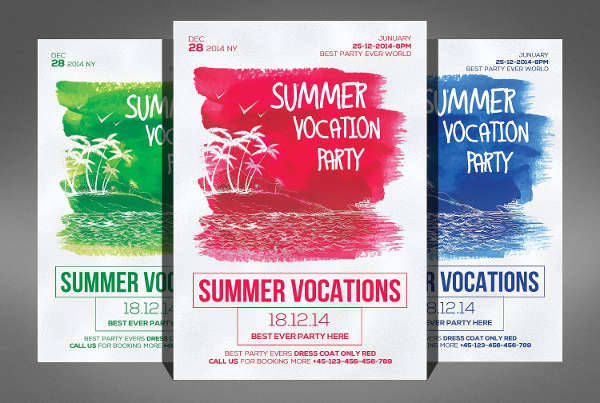 Summer Vacation Party Flyer