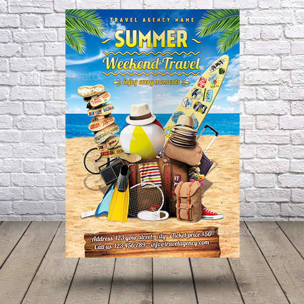 Summer Weekend Travel Flyer