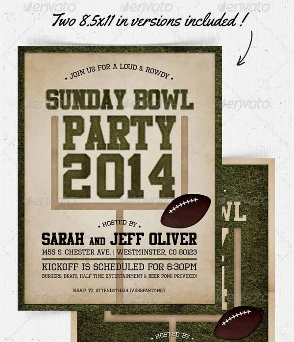sunday bowling flyer invitation