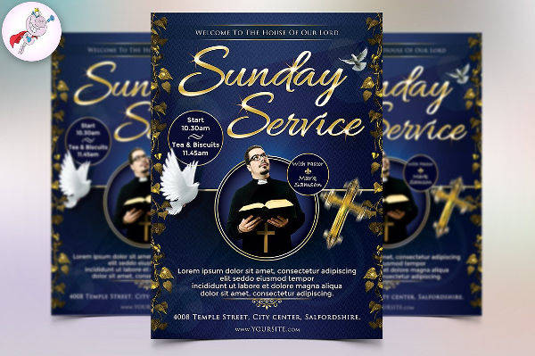 Sunday Services Flyer Template