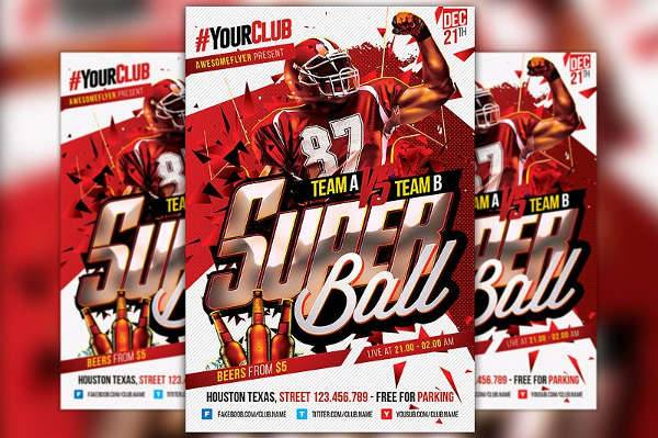 super bowl flyer design