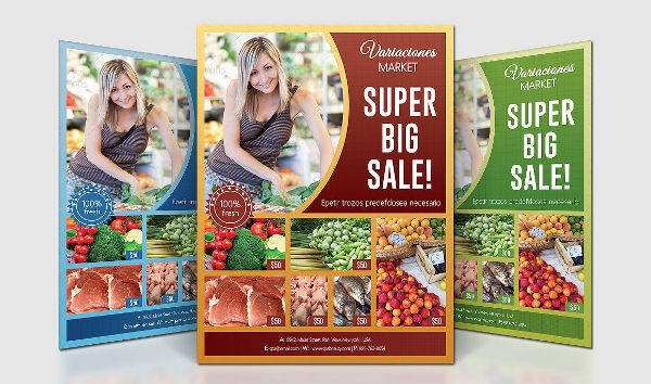 Supermarket Product Flyer Template