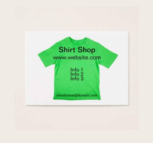 t shirt business card