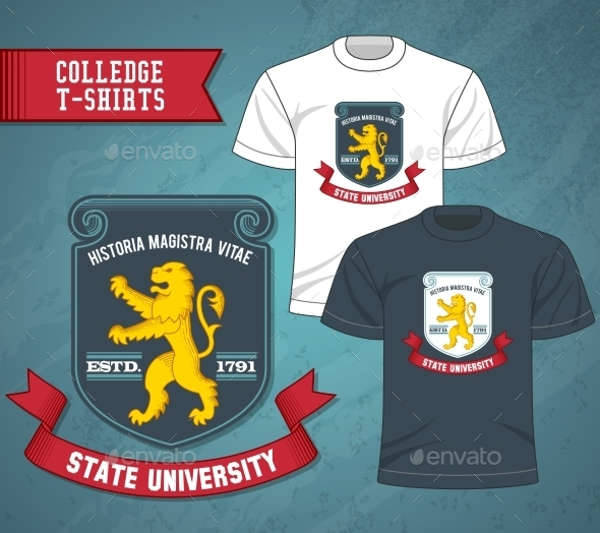 t shirt college label