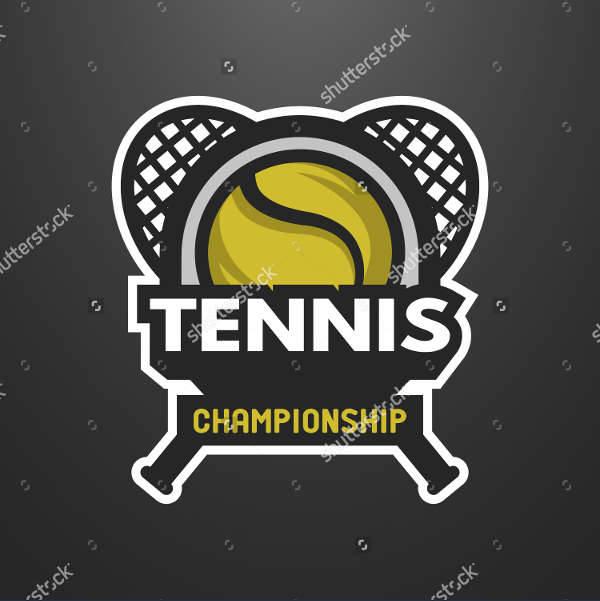 tennis sports emblem logo